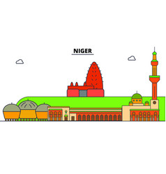 Niger line skyline niger vector