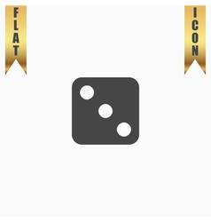 One dices - side with 3 vector image