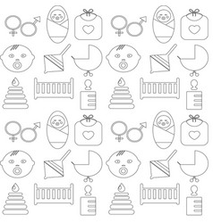 Perfect detailed baby icons made in vector