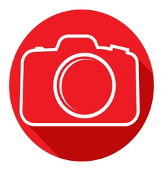 Photo camera icon flat design style vector