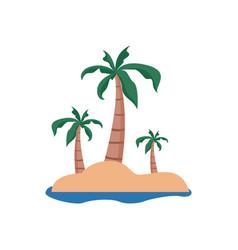 remote beach island summer stuff icon design vector image