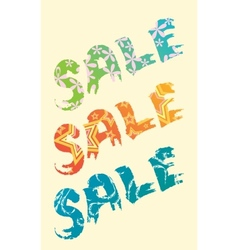 sale title vector image vector image