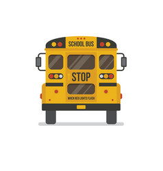 School bus back view vector