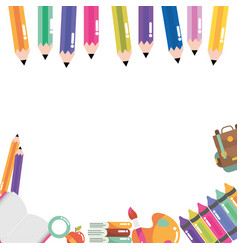 school study element cartoon vector image