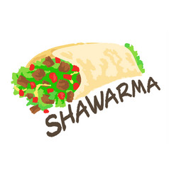 Shawarma sticker vector