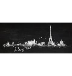 Silhouette chalk Paris vector