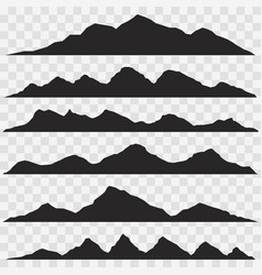 silhouette mountain peaks vector image