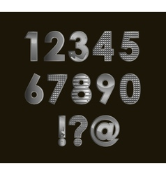 Silver font digits vector