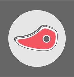 Slice of roast beef icon vector