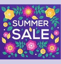 Summer sale - modern colorful vector