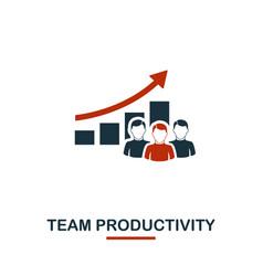 Team productivity icon premium style design from vector