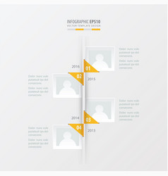 Timeline yellow color vector
