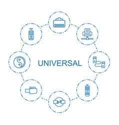 Universal icons vector