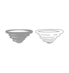 whirlwind icon grey set vector image