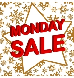 Winter sale poster with MONDAY SALE text vector