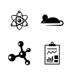 experiment simple related icons vector image vector image