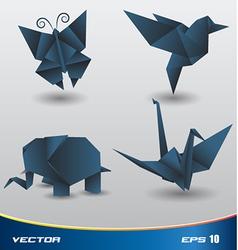 Origami paper vector