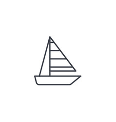 sailing ship thin line icon linear symbol vector image vector image