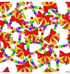 Christmas Bells seamless pattern vector image