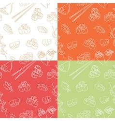 japanese food pattern vector image