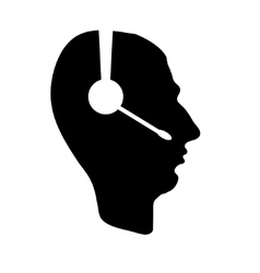 profile of people with headphones business icon vector image