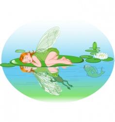 sleeping elf vector image vector image