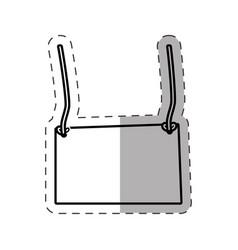 Card empty hanging cut line vector