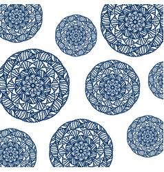 pattern of circular mandala vector image vector image
