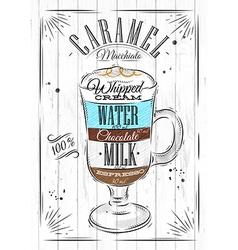 Poster caramel macchiato vector image vector image
