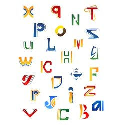 Set of full alphabet decorative letters vector image
