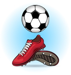 Boots and ball vector image vector image