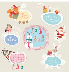 Christmas set frames vector image vector image