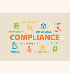compliance concept with icons vector image vector image