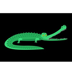 Crocodile isolated good caiman wild animal green vector