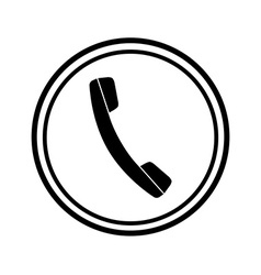 Icon of phone telephone vector image