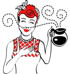 Vintage Advertising Woman design vector image