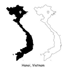 1195 hanoi vietnam vector image