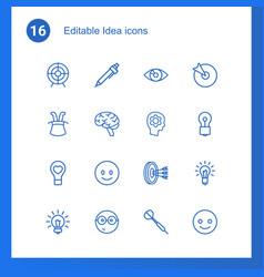 16 idea icons vector