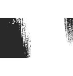 Abstract background with black paintbrush vector