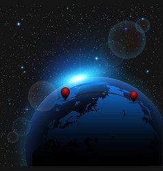 abstract background with view from space vector image