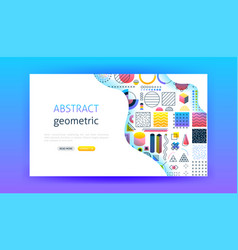 abstract landing page vector image