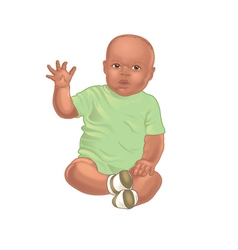 African american baby vector