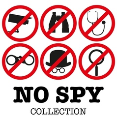 Anti-spyware icon vector