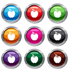 apple set 9 collection vector image
