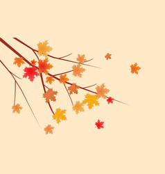 autumn leaves branch empty room space for your vector image