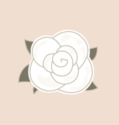 Beautiful vintage rose isolated on pale background vector