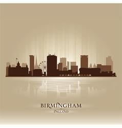 Birmingham England skyline city silhouette vector image