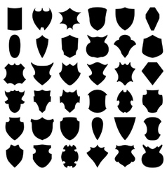 Black Shields vector