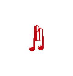 building music logo icon design vector image