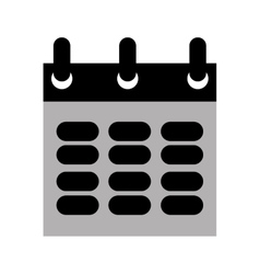 calendar design grey icon Flat and isolated vector image